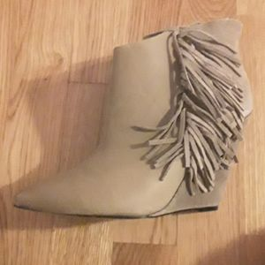 Shoes - BRAND NEW Betsey Johnson wedge boots